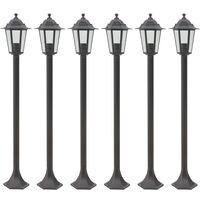 Lampioni da Giardino 6pz E27 110 cm Alluminio Bronzo