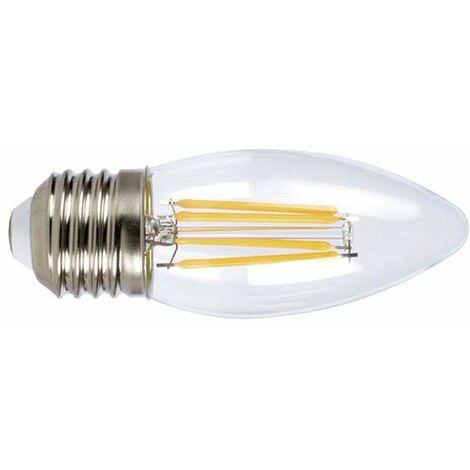 LAMP.LED FILAM.VELA E27 4W 6400K TRANSP