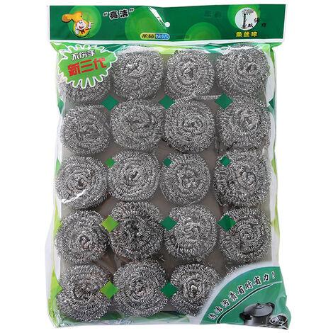 Lana B0812-20 Estropajo de cocina del hogar cocina de acero inoxidable Material Limpiador Pot depurador de cocina Pan Estropajo un Pack de 20