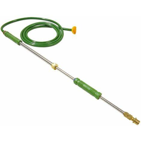 Lance de pulvérisation avec pompe à main vert