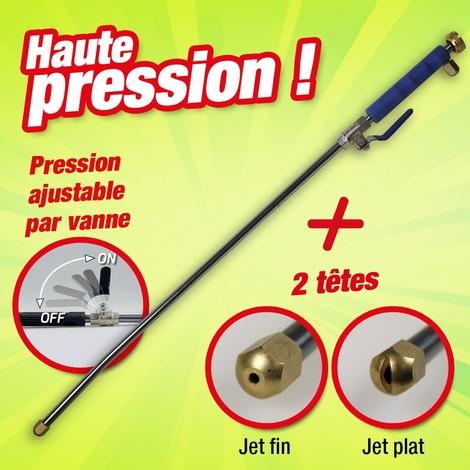 LANCE ET NETTOYEUR À HAUTE PRESSION