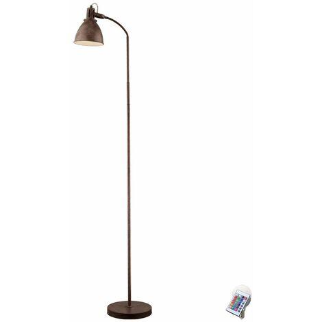 Landhaus Style Steh Lampe rustfarben Stand Lampe Conjunto de control remoto con bombillas RGB LED