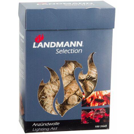 Landmann Allume-feu imbibé de cire 100 pcs Laine de bois 15103