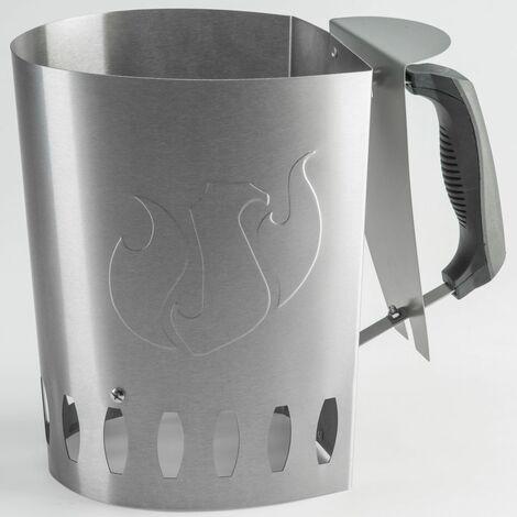 Landmann Barbecue Charcoal Chimney Starter Silver 15200