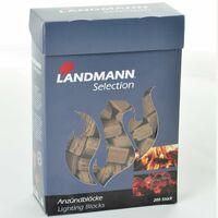 Landmann Pressed Firelighter Cubes 200 pcs Wood Fibre 15104