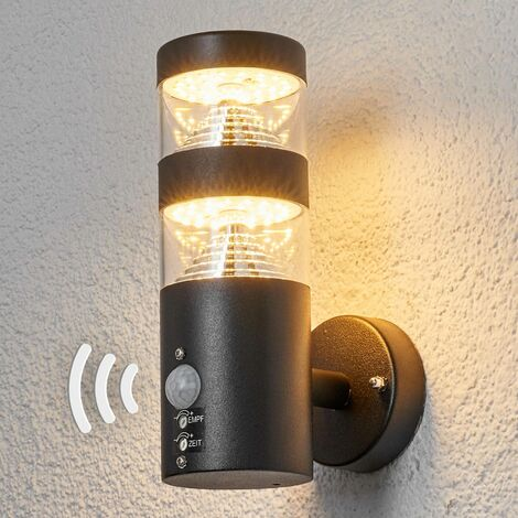Lanea sensor outdoor wall light with LED