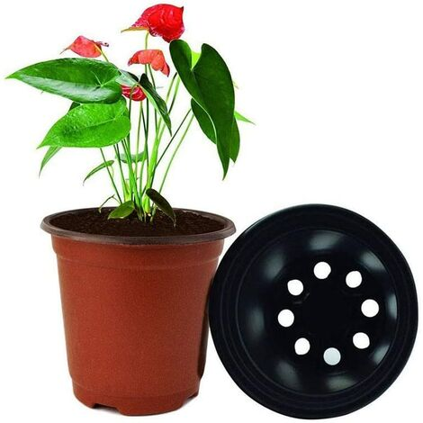 LangRay 100 PCS Semences Pépinière Pépinière Pots pour Graine De Démarrage Fleur,Plastique Plante Pots de Fleurs Pot de Semis Pépinières Fleur Plante Conteneur,Semis Pépinière Flowerpot Plant (10*9 CM)