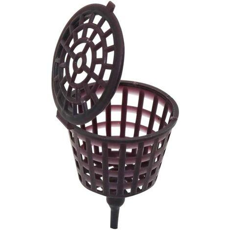 LangRay 100 piezas portátil Bonsai Outil cubierta de fertilizante fertilizante de plástico caja de cúpula cestas de fertilizante para plantar jardines agrícolas