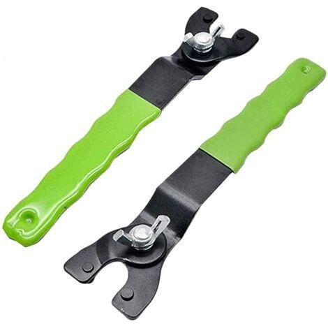 LangRay 2 piezas llave ajustable para amoladora, llave de ángulo ajustable, llave ajustable para amoladora angular, mango de plástico para amoladoras angulares