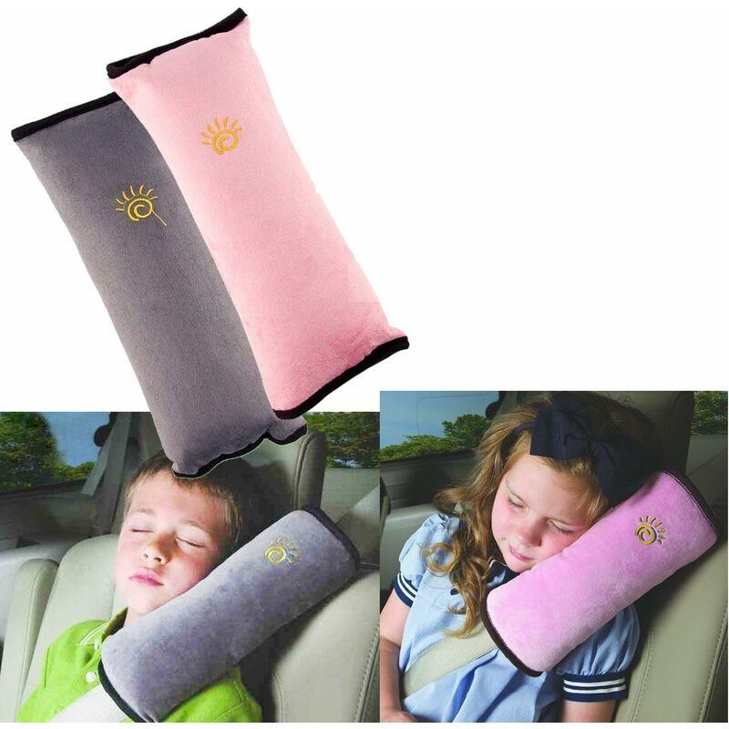 Litzee - LangRay 2Pcs Siège enfant Kid véhicules de ceinture harnais d'épaule Auto Voiture Coussin Ceinture de Sécurité Amovible Lavable et Pratique