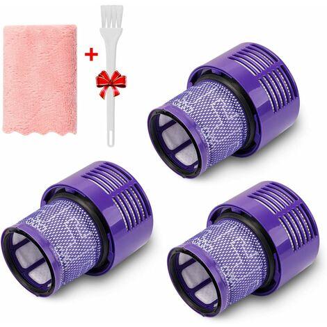 LangRay 3 Pack Filtre de remplacement pour Dyson V10 Series, Remplacez le filtre référence 969082-01, Compatible pour Dyson Cyclone V10 Absolute, Animal, Motorhead, Total Clean