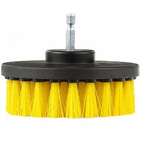 LangRay 4 '' de diámetro Rotating Power Detalles Cepillo de fregar de nailon con mango de cambio rápido de 1/4 de pulgada