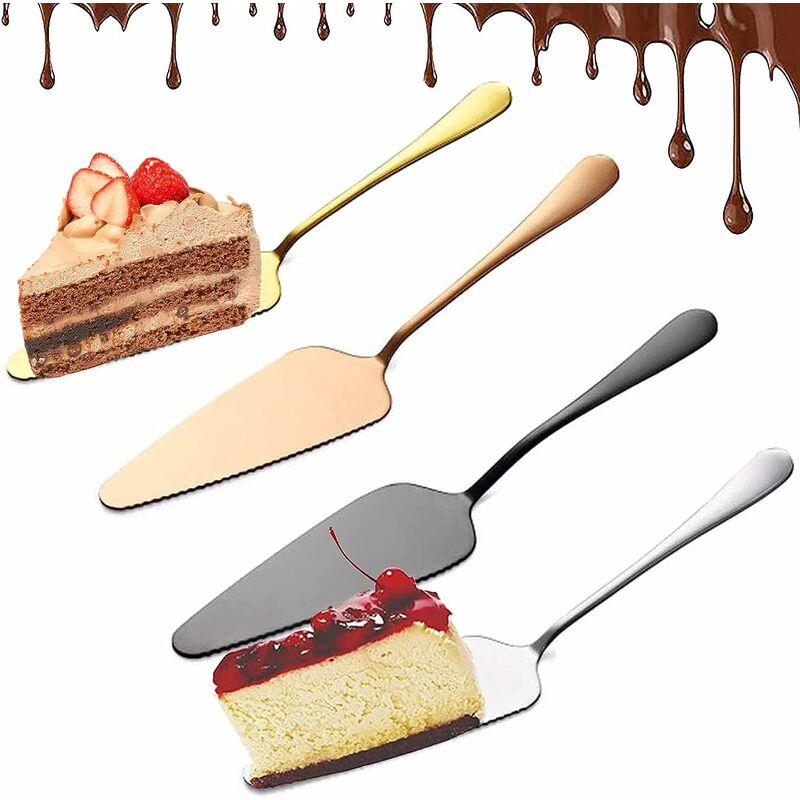 4 pièces Pelle à Gâteau, Pelle à Gâteau en Acier Inoxydable, Couteau à Gâteau Professionnel Pelle à Gâteau en Acier Inoxydable Lourd Couteau à Gâteau