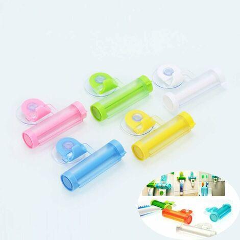LangRay 5 Pièces Distributeur de Dentifrice, Tube de Roulement Rouler Tube Presse, Tube de Dentifrice de Squeeze pour Les Mains Tube de Peinture Cosmétiques