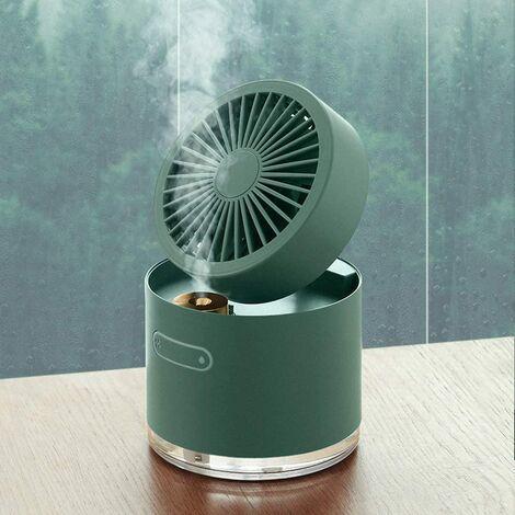 Langray Air Acondicionador de aire Portátil Mini refrigerador, Mini Humidificador de ventilador de refrigeración USB, Almacenamiento plegable, Enfriamiento por aerosol, Ajuste de gestión de viento arbitrarios