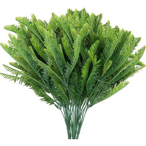 "main image of ""LangRay Artificial Fern (Pack of 6) - Indoor / Outdoor Artificial Plant - Artificial Foliage for Living Room, Garden, Wedding Decor, Office, Zen Bathroom Decor"""
