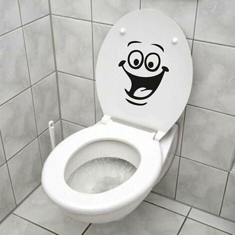 LangRay Autocollant Smiley, Sticker Mural Drôle pour WC, Salle de Bain, Cuisine, PVC, 1 Couleur, Taille Unique