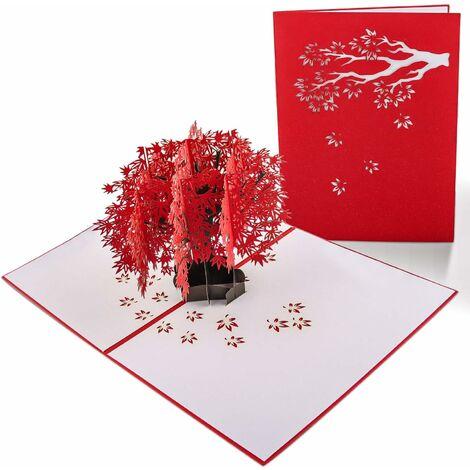 LangRay Carte 3D, Carte Pop Up, Carte Anniversaire Mariage, Carte de Voeux Avec Enveloppes, Carte Anniversaire Artisanale et Technologie Laser Exquise, Cadeaux Chics et Élégants pour Enfants, Amis, Amoureux