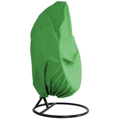 LangRay Cubierta para muebles de jardín - Cubierta para muebles de silla colgante impermeable de mimbre de ratán para jardín - Cubierta para silla con protección de huevos - Cubierta de PVC de poliéster Oxford 210D - Verde