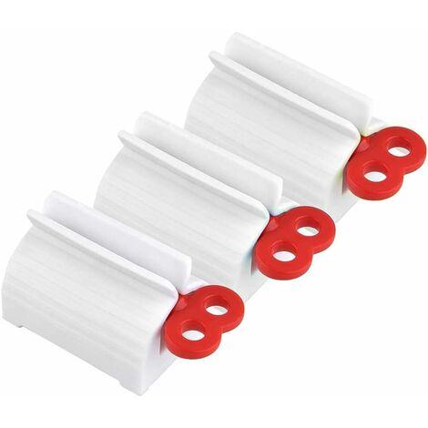 LangRay Distributeur de Dentifrice,3 Pack Tube de Roulement Rouler Tube Presse Agrume de Dentifrice Tube de Dentifrice de Squeeze de Bain