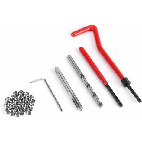 LangRay Ensemble de 30pcs Outils de Réparation de Filetage Inserts Filetés Compatible Outil à Main pour Réparation Filetage Cassé Automobile(M5)