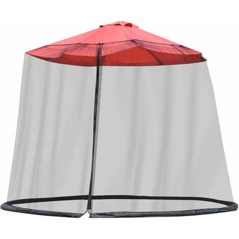 LangRay Exnemel Filet de parasols, écran de Couverture de Filet de Parapluie, écran de Table de Parasol de Jardin extérieur Couverture de moustiquaire de Parasol, 300x230cm (Noir)