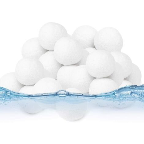 """main image of """"LangRay Filter Balls 500g, Pool Filter Balls, Pool Filter Balls, Filter Kettle Sand Filter Pool Sand Quartz Sand Replacement Products"""""""