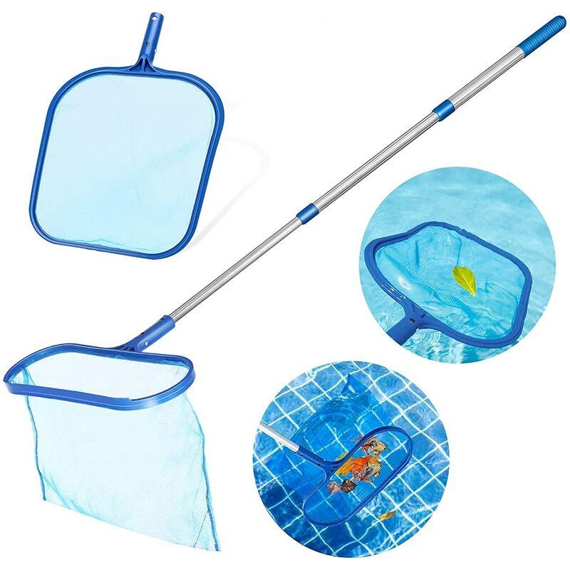 Kit de red de fondo para piscina con mango telescópico de aluminio, red para piscina para piscinas, estanques, fuentes, estanques, peceras