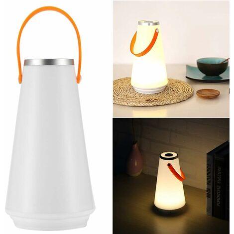 LangRay Lampe de table de nuit sans fil LED à la maison USB Interrupteur tactile rechargeable Commutateur de lumière pour camping extérieur