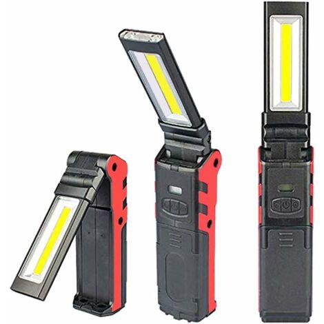 """main image of """"LangRay Lampe de Travail USB Rechargeable Lampe, COB Torche Lampe de Poche,LED Lampe d'inspection avec Base magnétique Pour Camping Lampe pour Garage, camping, d'urgence(1 PC)"""""""