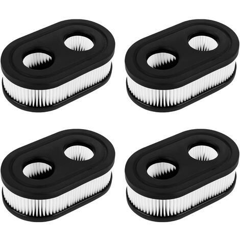 """main image of """"LangRay Lawn Mower Air Filter, 4 Pcs Garden Mower Air Filters Fits Lawn Mower Engine, Engine Air Filter Can Replace Old Briggs Stratton Mower Filter"""""""