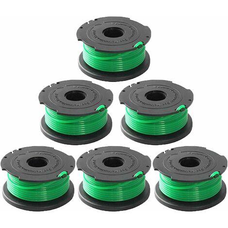 LangRay Ligne de bobine d'alimentation automatique de remplacement pour coupe-bordure SF-080 de 20 pieds 0,080 pouce compatible avec pour Black et Decker GH3000 LST540 LST540B GH3000R SF-080-BKP coupe-bordure (paquet de 6)