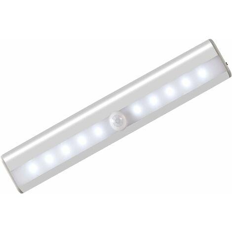 LangRay Lumière Armoire avec Détecteur, Lampe Détecteur de Mouvement, Veilleuse 10 LED avec Bande Magnétique, Alimenté par USB(Sans Fil), Lumière Automatique d'Armoire Placard Cabinet