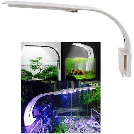 LangRay Lumiere Lámpara LED para acuario Nano iluminación de clip blanca y azul para plantas de peces 23-50 cm-A