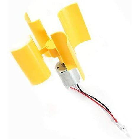 LangRay Mini generador de turbinas de viento verticales, motor de generador de viento de turbina de viento modelo de turbina DIY
