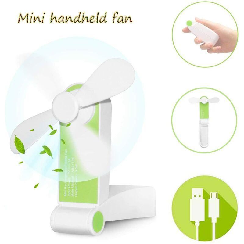 LangRay Mini Ventilatore tascabile pieghevole Ventilatore portatile portatile USB Ventilatore ricaricabil