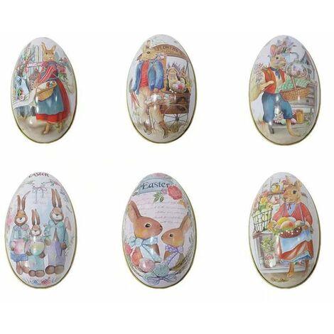 LangRay Pâques Decoration, Oeufs de Pâques Décorés Petits Boîte de Bonbons de Pâques pour et Les Cadeaux Bebe Livre Enfant Surprise Mini Jouets Idéal de Pâques (6PCS)