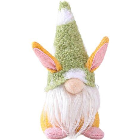LangRay Pasta Conejo Decoración Muñecos de Peluche de Pascua, Adornos de Casa de Pasta Familia para Niños para Decoración de Mesa de Muñecas Regalo, Regalo de Pascua 1/3 pieza (Verde)