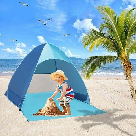 LangRay Pop Up Beach Mussel, tente de plage automatique très légère avec protection UV, tente de jeton portable de la plage portable familiale