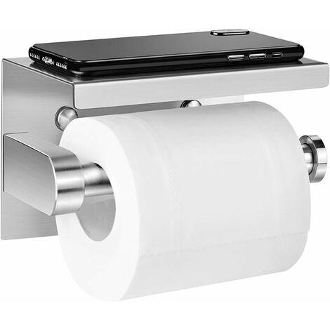 LangRay Portarrollos de papel higiénico, adhesivo de acero inoxidable, para baño de cocina - 1