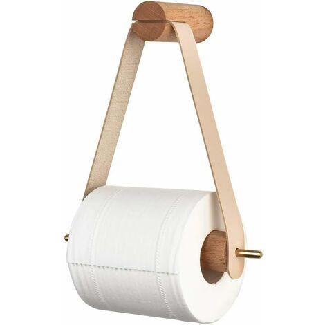 LangRay Porte-rouleau de papier toilette vintage porte-rouleau de papier toilette en bois pour toilette salle de bain mural porte-rouleau décoration de salle de bain
