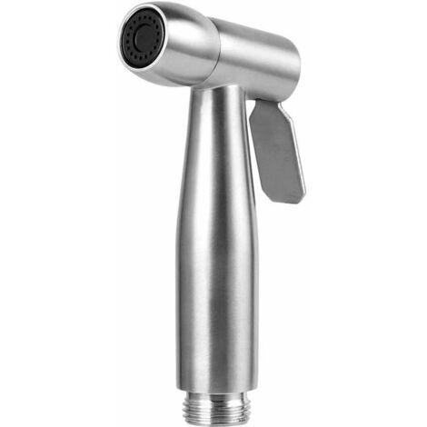 LangRay Pulvérisateur de bidet à main - douchette wc Pulvérisateur de toilette en acier inoxydable Spray avec crochet pour le nettoyage des toilettes, bain pour animaux de compagnie, hygiène personnelle