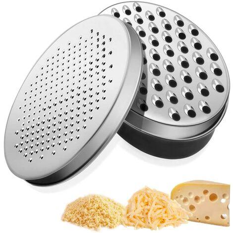 LangRay Rallador de queso, cortador de verduras, piel de limón con rallador de almacenamiento para rallar queso cheddar, jengibre, verduras, mantequilla, ajo para adultos y niños negro