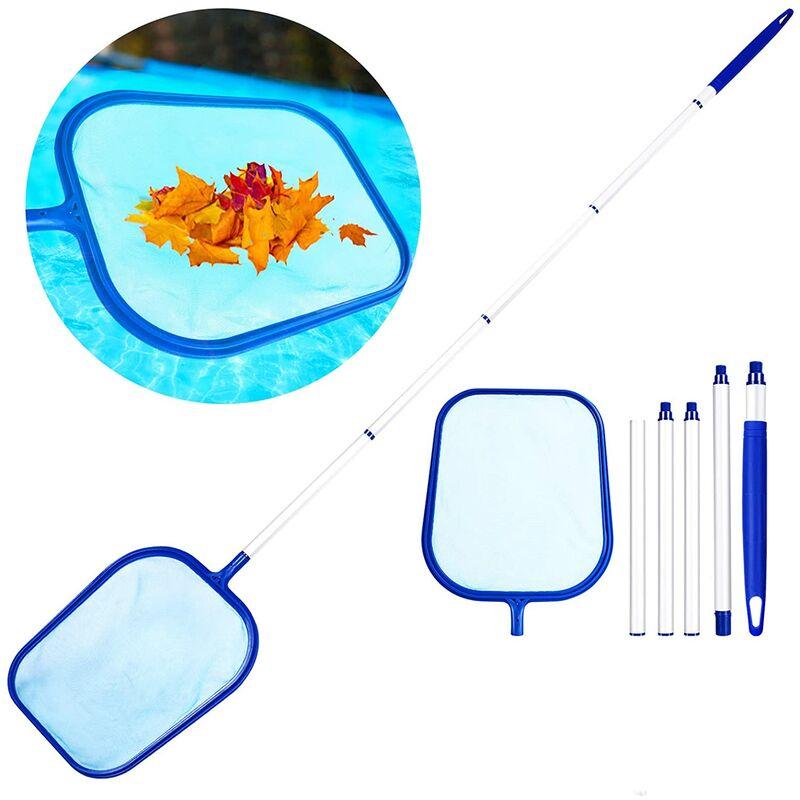 Red de aterrizaje de superficie, skimmer de hojas con mango desmontable de 1,2 m, kit de limpieza de red de malla fina para piscinas, estanques,