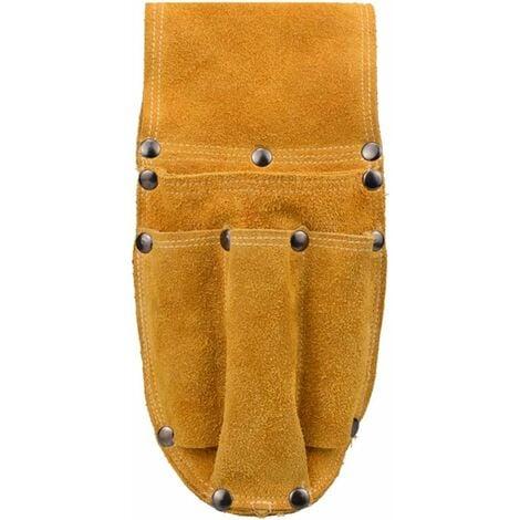 LangRay Sac de ceinture à outils en cuir sac à outils polyvalent professionnel porte-outils organisateur taille ceinture sac banane pour électriciens outils Camping en plein air randonnée