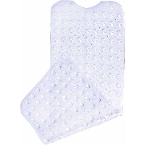 LangRay Tapis de bain antidérapant avec 200 ventouses 100 x 40 cm - Transparent - Transparent
