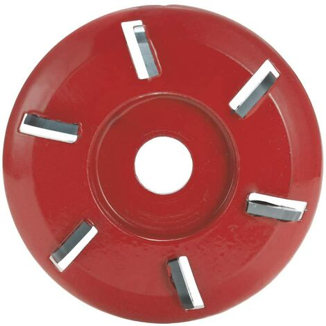 """main image of """"LangRay Wood Carving Disc, Six Teeth, Chain Tool, Cutter Tool, Cutter Tool, Aperture Angle Grinder Milling Tool (Red)"""""""