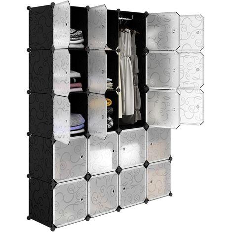 Armario estantería de 16 cubos