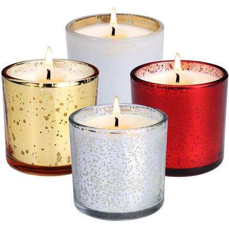 Bougies Langria Coffret En 100Naturelle De 4 Parfumées Cire WEIH2DY9