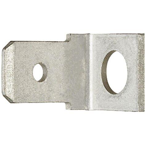 Languette 6.3 x 0.8 mm Klauke 2080 45 ° non isolé métal 1 pc(s) D21619